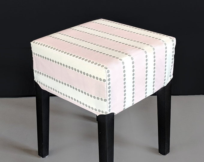 Pink Stripes, Yellow Dots Stool Cover for IKEA Nils
