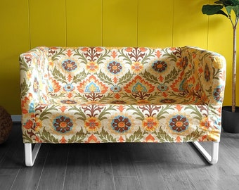 IKEA Sofa Slip Cover for KNOPPARP, Vintage Floral Damask, Mexican Adobe Print