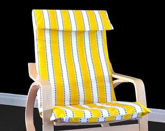 Yellow Stripe Ikea Poang Chair Cover
