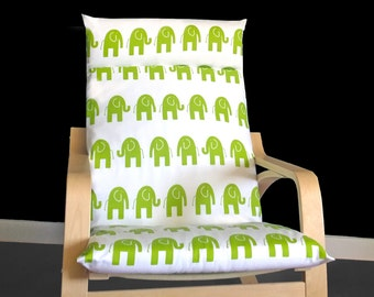 Green Elephant Ikea POÄNG Cushion Slipcover