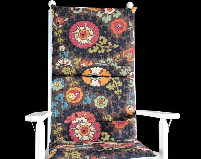 Brown Floral Rocking Chair Cover, Foam Inserts