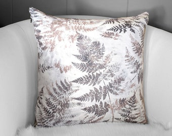 Fern Brown Pillow Cover