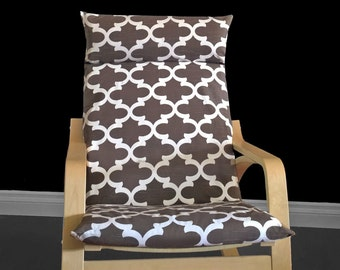 Brown Indian Style Ikea Poang Cover