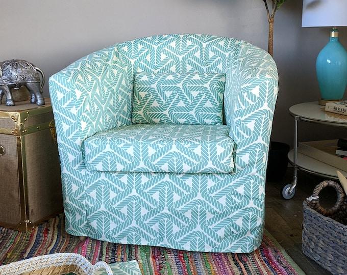 Custom Blue Rope IKEA TULLSTA Chair Slip Cover