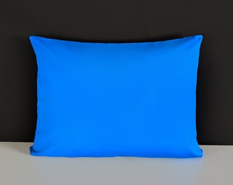 Bright Cobalt Blue Outdoor Rectangle Pillow Cover, Lounge Pillow