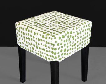 Green Pebble Print Stool Cover for IKEA Nils