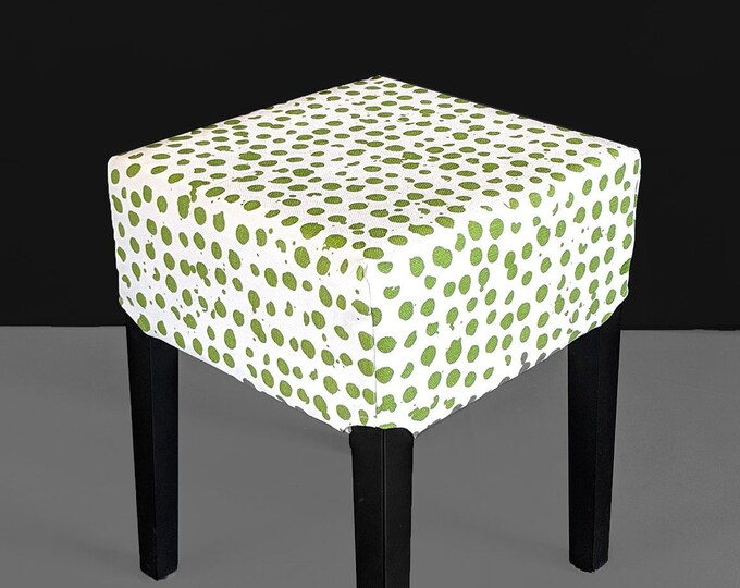 Green Pebble Print Stool Cover for IKEA Nils