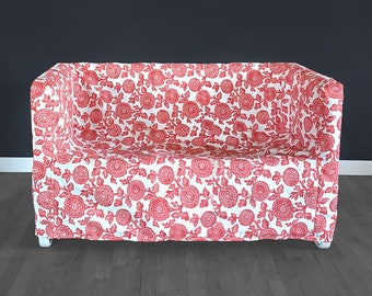 IKEA Sofa KNOPPARP Slip Cover, Red Floral