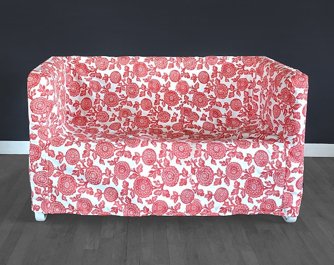Red Floral IKEA KNOPPARP Slip Cover