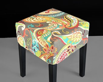IKEA Stool Cover Colorful Floral
