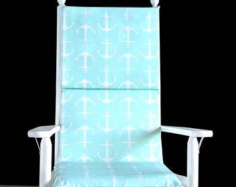 Mint Anchor Rocking Chair Cushion Cover