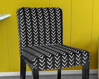 African Arrows, Black Arrow Mud Cloth Print IKEA HENRIKSDAL Bar Stool Seat Cover