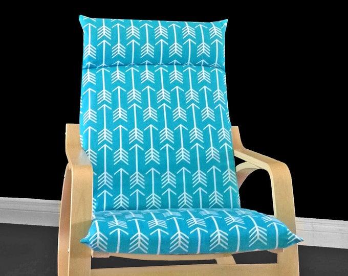 Arrows IKEA POÄNG Cushion Slipcover - Apache Blue