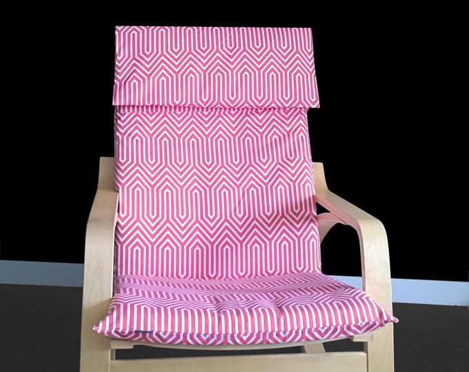 Pink Geometric Poang Chair Cover