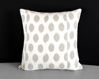 Large Beige Dots Patchwork Pillow Cover