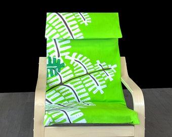 Green Fern IKEA KIDS POÄNG Cushion Seat Cover