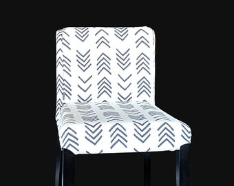 African Arrows, Mud Cloth Print IKEA HENRIKSDAL Bar Stool Seat Cover