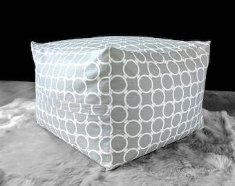 IKEA Jordbro Bean Bag Covers, Square Pouf Slip Cover