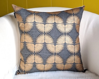 Tribal Bronze Gold Pillow Cover