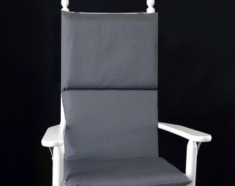 Solid Charcoal Rocking Chair Pad, Gray Seat Covers
