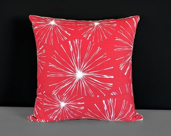 Red Fireworks Pillow Cover