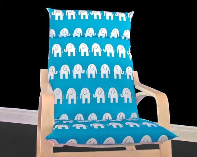 Turquoise Elephant Ikea Poang Seat Cover