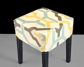 Brown Geometric Pattern, Stool Cover for IKEA Nils