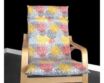 IKEA POÄNG Cushion Slipcover Blooms Citrus Orange, Red, Yellow