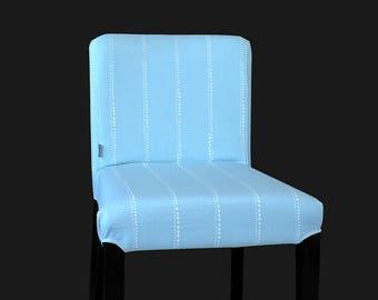 Pastel Blue Dot Style IKEA HENRIKSDAL Stool Seat Cover