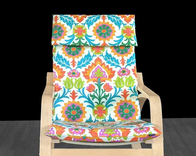 Mimosa Flower Ikea Chair Cover, IKEA POÄNG Cushion Slipcover