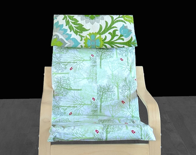 Mint Green Forest, Julep IKEA KIDS POÄNG Cushion Seat Cover