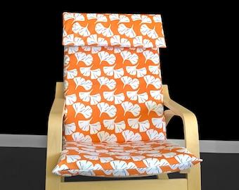 Orange Leaf IKEA POÄNG Cushion Slip Cover