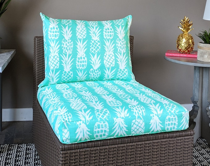 Pineapple Blue Ikea Arholma Outdoor Furniture Covers - *Fits Ikea ONLY*