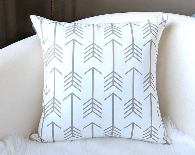 """Arrows Beige 18"""" Pillow Cover, Ready to Ship"""