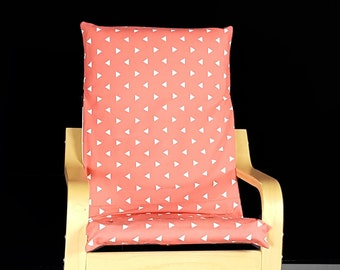 KIDS POÄNG Triangle Cushion Seat Cover, Coral Pink