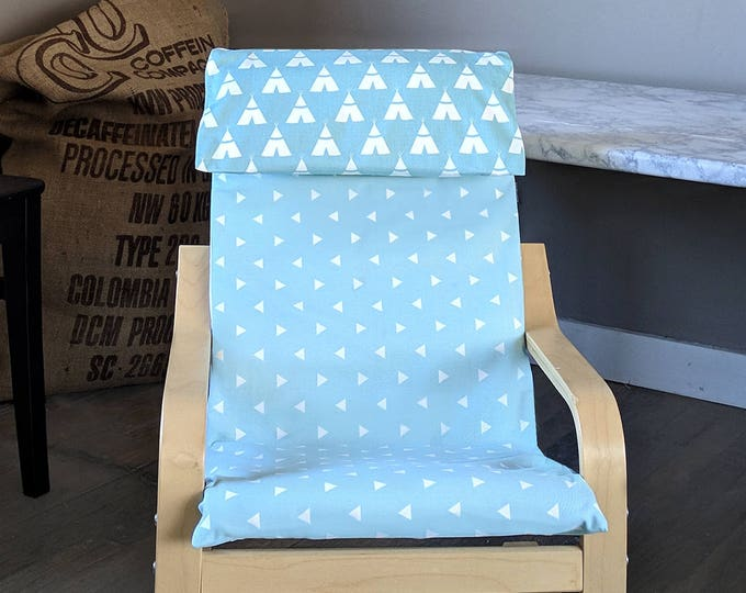 KIDS POÄNG Tee Pee Triangle Cushion Seat Cover, Baby Blue