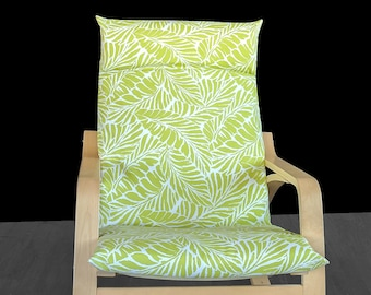 Lime Green Tropical Leaf Ikea Poang Summerhouse Chair Cover