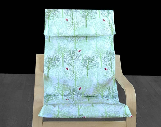 Mint Green Forest IKEA KIDS POÄNG Cushion Seat Cover