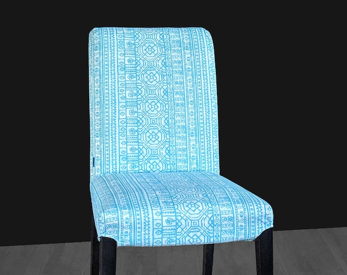 Blue Patterned Mexican Print IKEA HENRIKSDAL Chair Cover