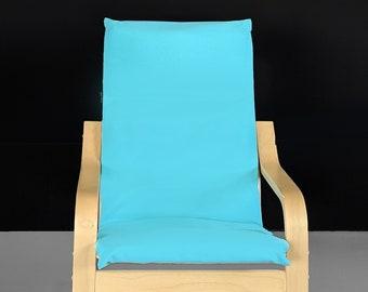Sunbrella Aruba Blue Ikea Kids Poang Seat Cover