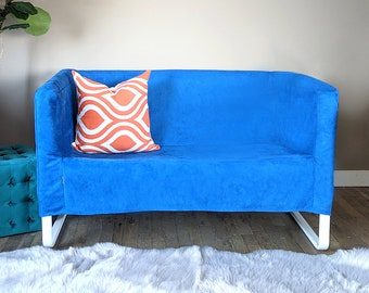 IKEA Sofa KNOPPARP Slip Cover, Royal Blue Velvet Suede