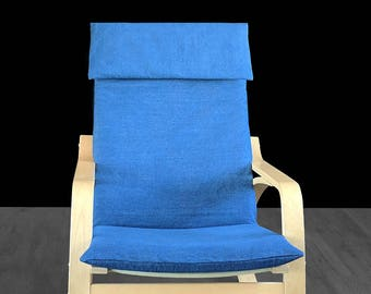 Dark Denim Blue IKEA POÄNG Chair Cover