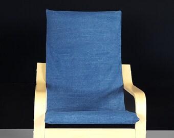 Denim Blue KIDS POÄNG Cushion Slip Cover