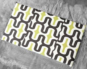 Retro Pattern, Brown Green White IKEA HEMMAHOS Bench Pad Slip Cover, Patchwork
