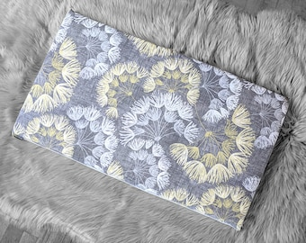 Flowers IKEA STUVA Bench Pad Slip Cover, Gray Yellow Floral