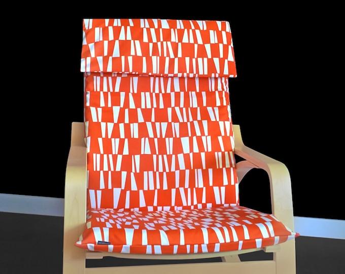 IKEA POÄNG Cushion Slipcover - Sticks Orange