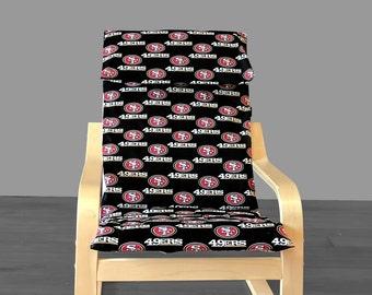 Kids San Francisco 49ers Ikea Poang Chair Cover