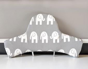 IKEA Highchair Cushion Cover for Klammig, Pyttig, Elephant Gray