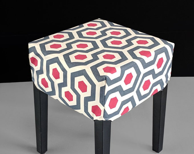 Geometric Honeycomb Print Stool Cover, IKEA Nils
