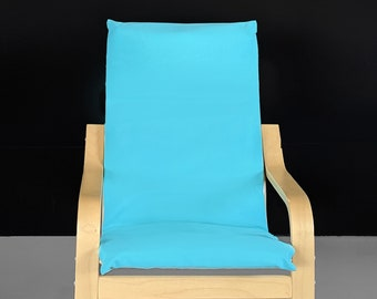 Solid Turquoise Blue Ikea Kids Poang Seat Cover